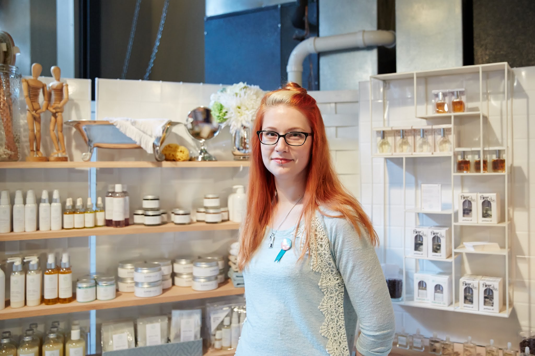 Sarah deHebreard - I'm the sole proprietor of Bonnie, a brand of natural skincare and bath products.