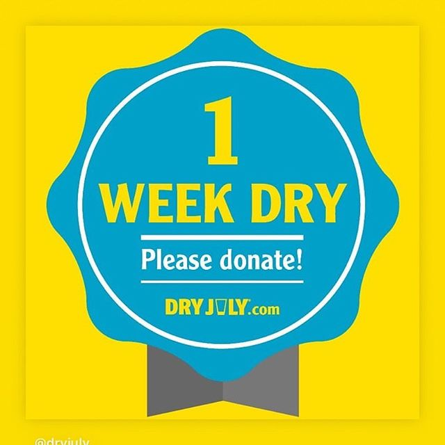 1st week dusted🙅🏼‍♂️🍺 I'm donating my weekly $50 Corona allowance to the dry July foundation to help support those in need 👊🏼 If you can spare a dollar go to the link in my bio and donate.  Thanks for the support  Cheers without beers!! ✌🏼 #dryjuly #fuckcancer #cancersupport