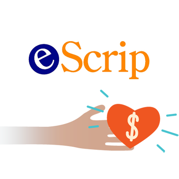eScrip    Shop online, buy groceries, dine out with registered cards or shop from our online mall and a percentage of your purchase will go to our school. Join today at  eScrip.com .