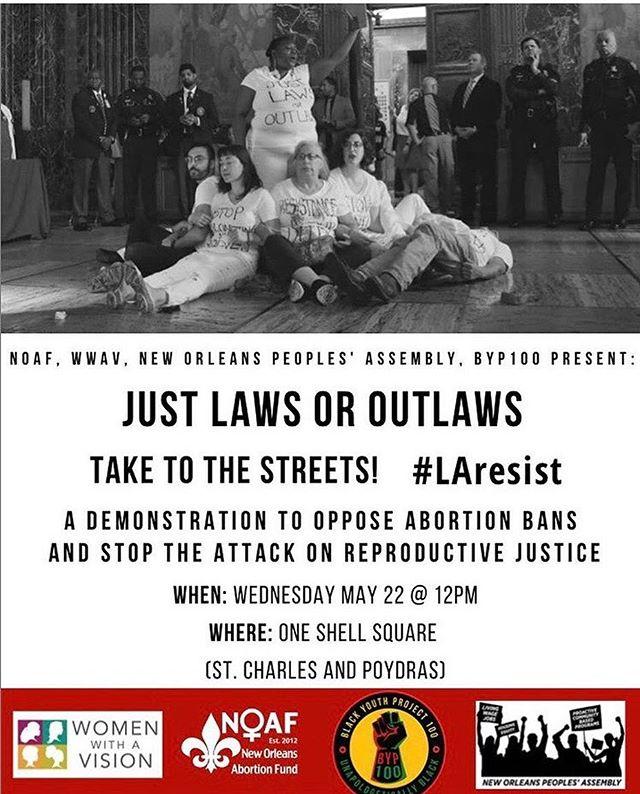 #NOLA Today at Noon at City Hall let's not let La go down like Alabama.  Women's Health Care is Society's Health.  @wwavnola #nola House bill 425 Senate bill 184