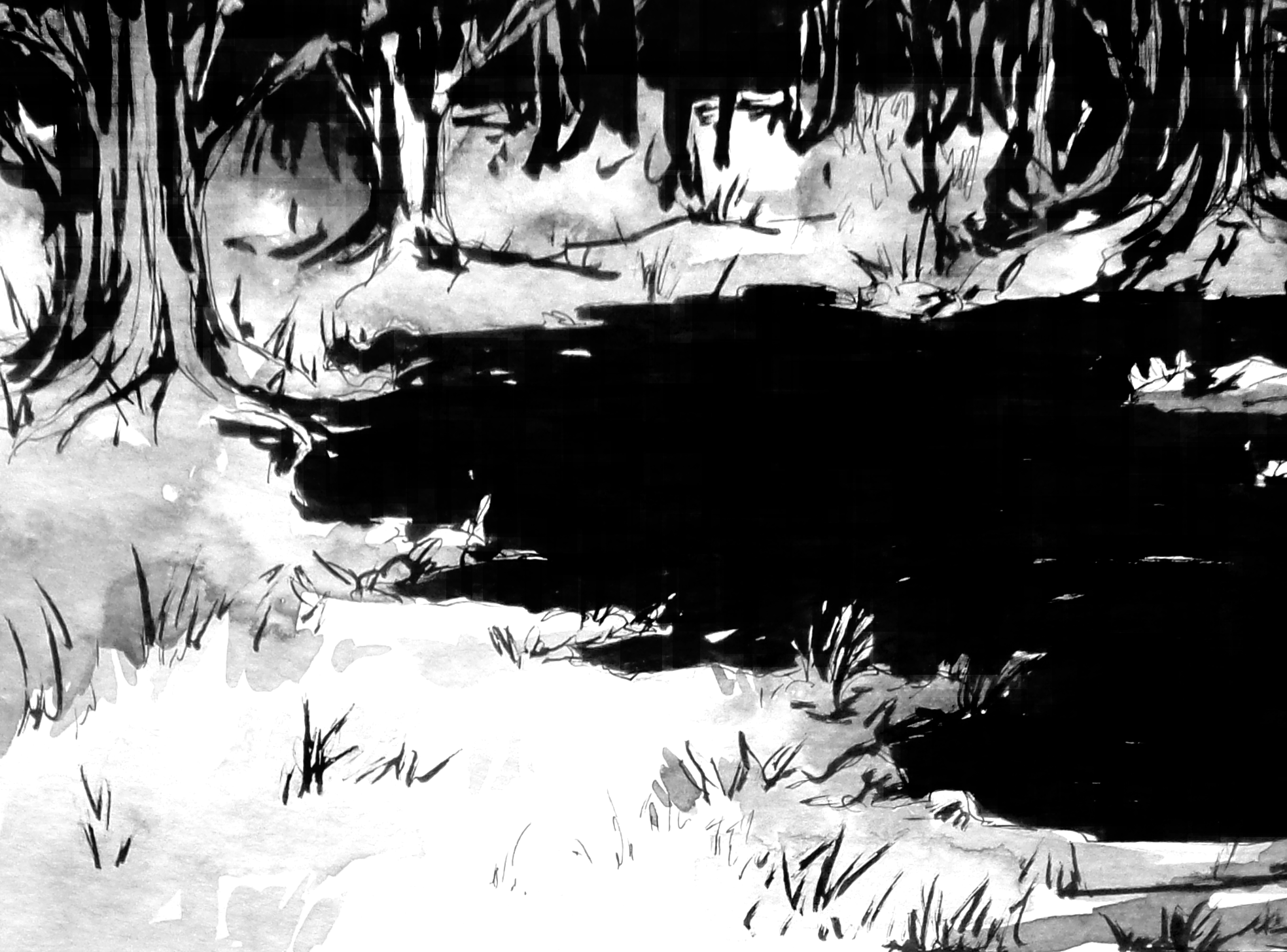 """""""Black lake"""" is an 8 pages comic dealing with issues of loss and mental health."""