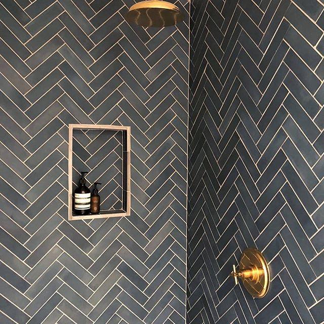 Bathroom Crush 💕 Herringbone Cement Tiles + Gold Tapware. 📸 @cletile  @tatereynoldsdesigner . . . #bathroomdesign #bathroomdecor #bathroom #bathroomtiles #tile #tiledesign #tiles #tiler #tilestyle #tilelove #herringbonetile #herringbone #pattern #patternator #patterndesign #surfacetiles.sydney