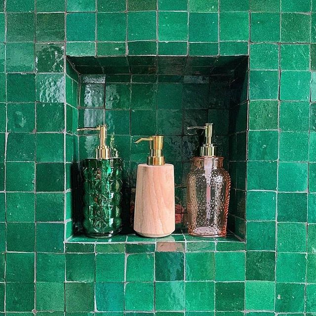 Green With Envy with these gorgeous tiles from @cletile & @studiodiy 💕 These beautiful green tiles definitely make a stunning feature in any space. 💕 . . . . #greentiles #handmade #tiles #green #greenwithenvy #design#archilovers#homedesign#interiordesign #architecture#interiordesigner #interiorarchitecture#interiors #interiordecor#interiordecoration #interiordesigninspiration#archstagram #contemporary#instadesign#archdigest#elledecor#bathroom #tiles#architecture#decor#residentialdesign #hautecouture #hauteliving #ihavethisthingwithtiles