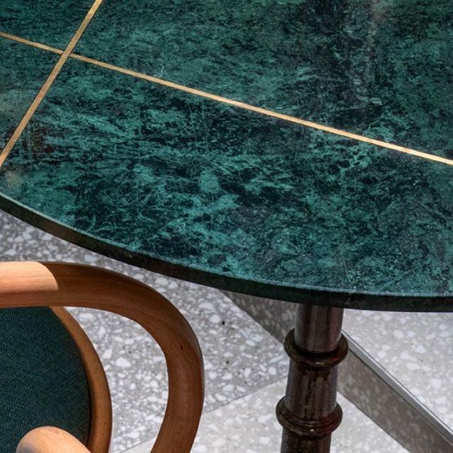 Green Marble + Gold + Terrazzo @greenmoustachenorthsydney . . . . . #green #greenmarble #gold #terrazzo #terrazzofloor #tiles #tiler #sydneytiler #tilers #sydneytiler #interiordesign #interiordesigner #luxe #restaurantdesign #designer #bespoke #luxury #luxerylife #luxeinteriors #surfacetilessydney #teranovatiles #greytiles #sydney