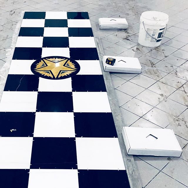 We are working on a custom design marble install for Masonic Centre Warner's Bay this week. These tiles have been designed  by the client and supplied @thetilepalette . . . . #customdesign #surfacetilessydney #custom #bespoke #designer #design #tiles #tiler #sydney #masonic #marble #marbledesigner #handmade #custominstall #unique #thetilepalette #blackandwhite #checkerboardfloor #instablackandwhite #interiordesign #sydneytiler #sydney #warnersbay