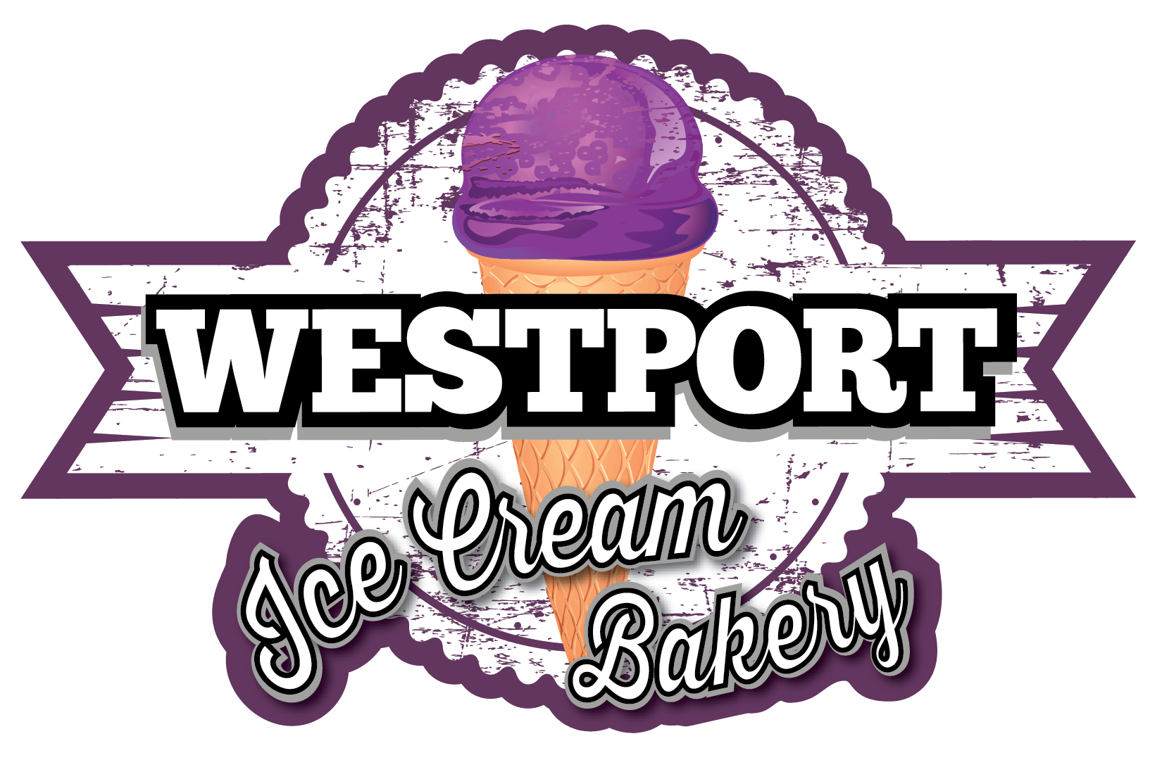 Adobe Illustrator Logo Design - Westport Ice Cream Bakery