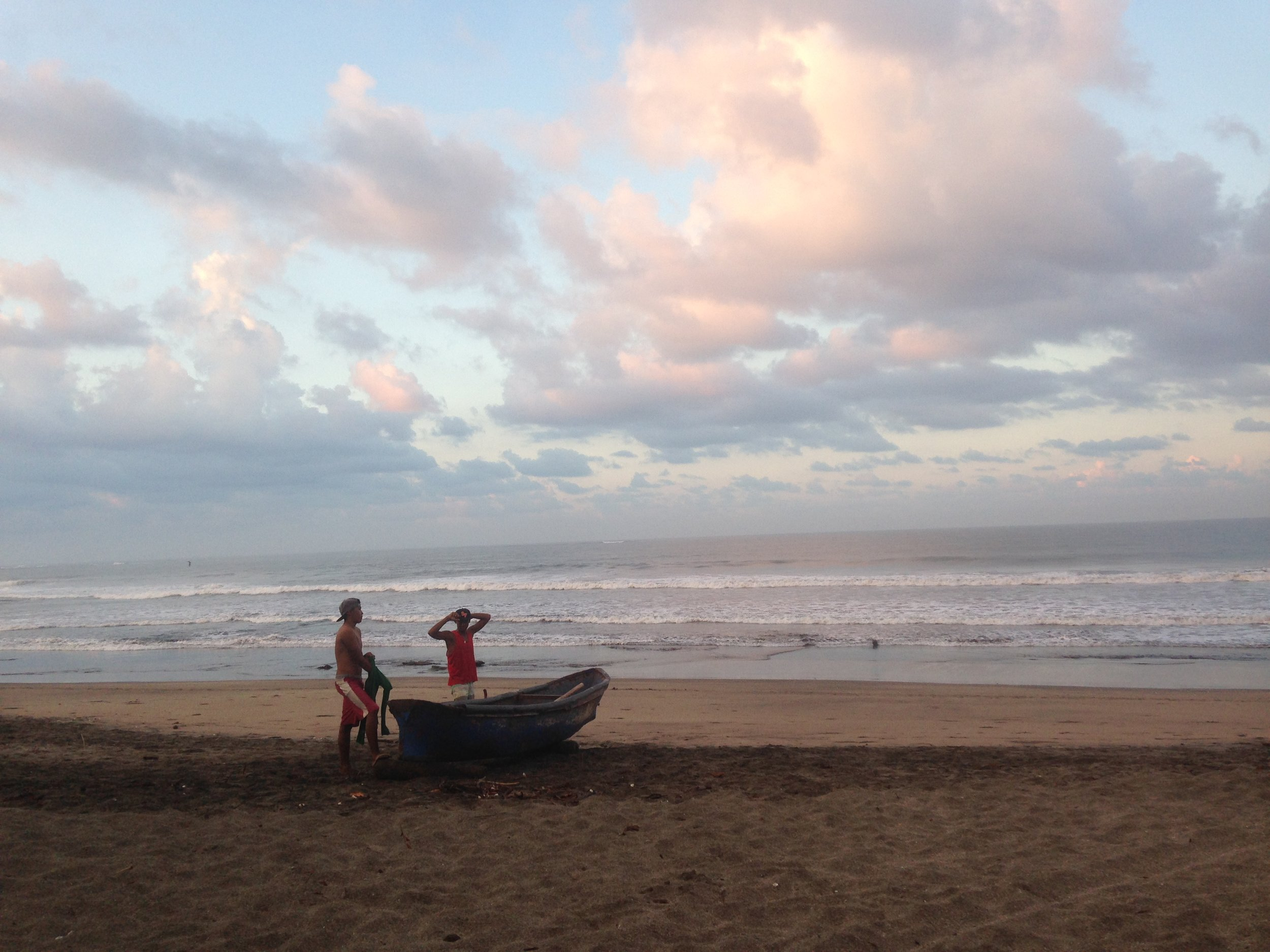 5:30 AM - two young fishermen.