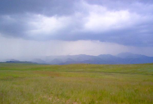 Big skies, big mountains, big veld, big rain. Photo credit: Rodney Moffett
