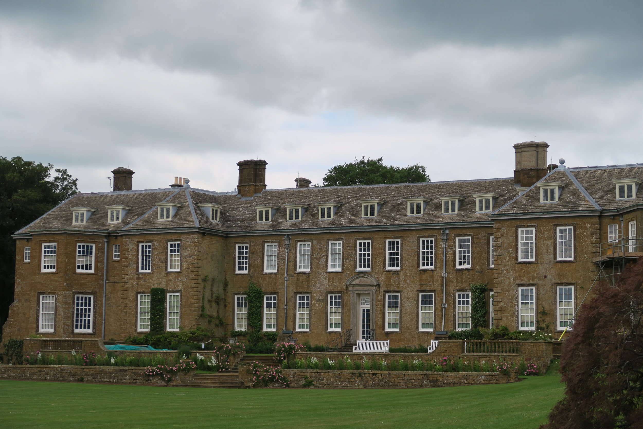 Upton Hall, where the gardens were dug up for vegetables during the war.