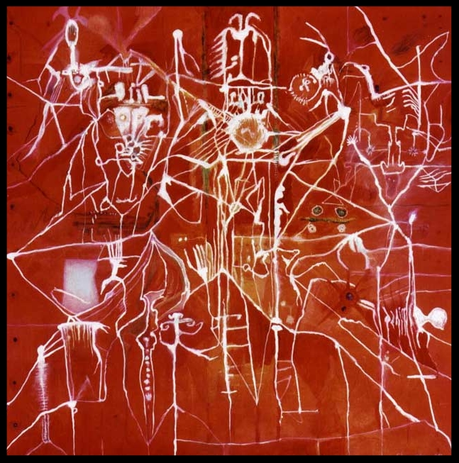 'Nowhere to Hide', 1998 Medium: Oil on canvas Size: 100 x 100 cm Location: Dunbar Collection, Thailand