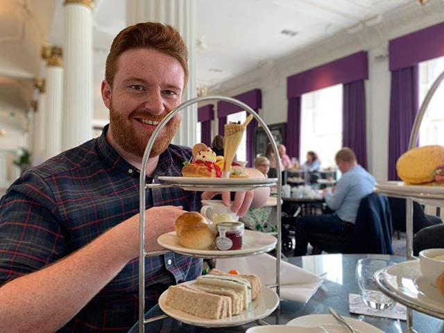 Afternoon tea with the woman who made me ❤️ . . . #art #artsy #fashion #fashionblogger #fashionbloggers #fblogger #fbloggers #beauty #beautybloggers #bbloggers #lifeblogger #lbloggers #hipster #hippie #beautiful #lgbt #teamgay #ginger #selfie #food #afternoontea #tea #cake