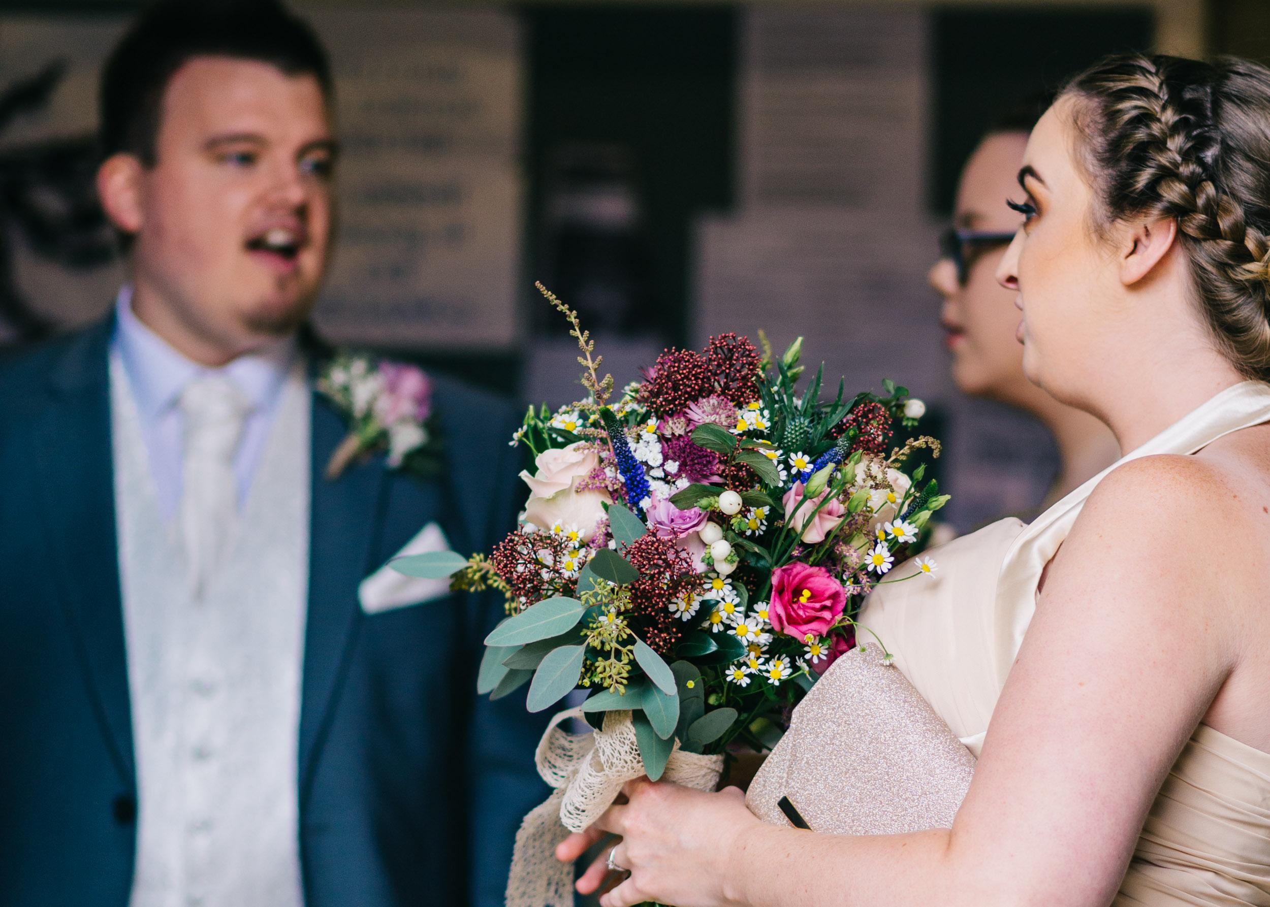 Wild flower & woodland theme wedding in manchester10