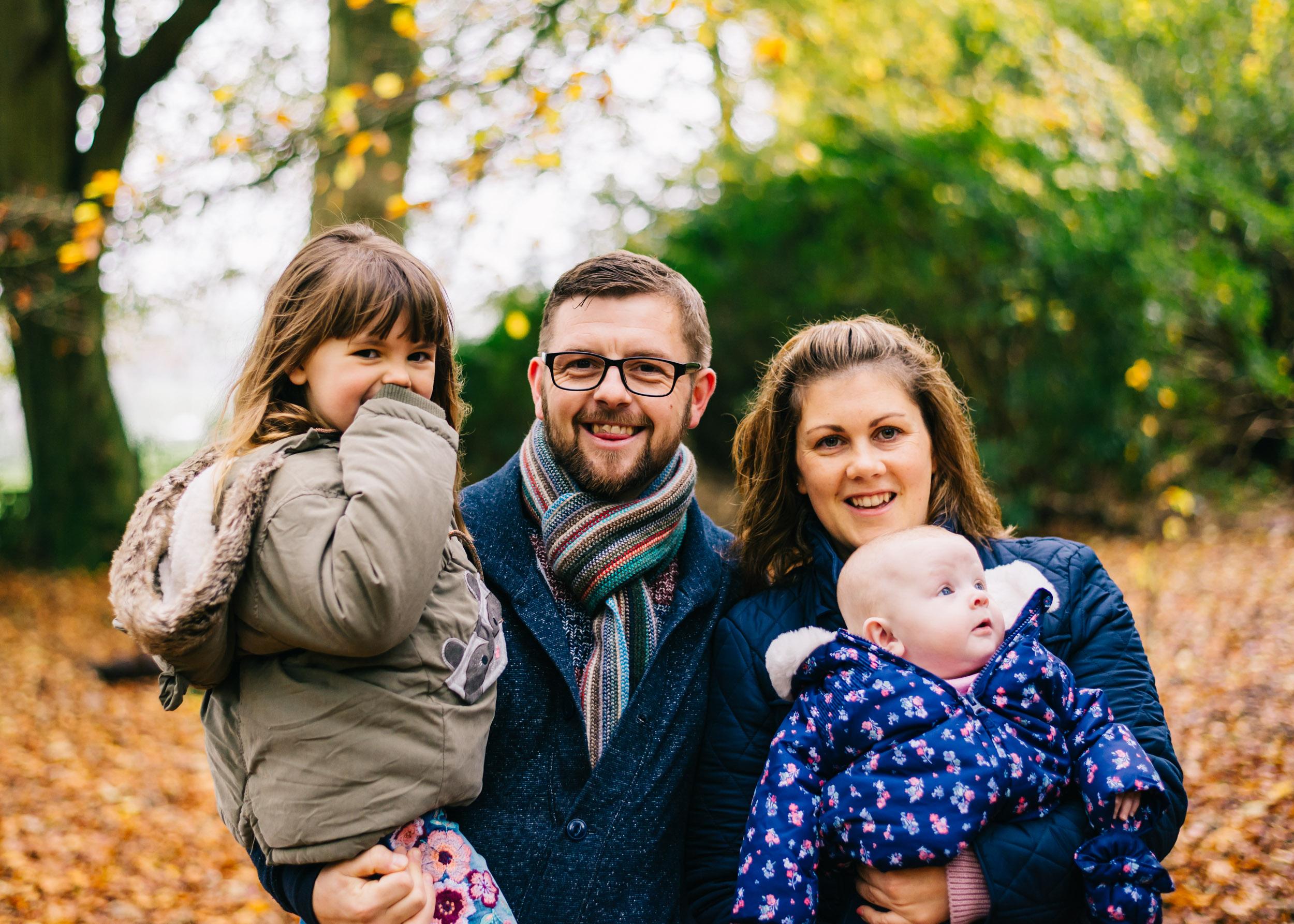 autumn mini session, lancashire Towneley Park
