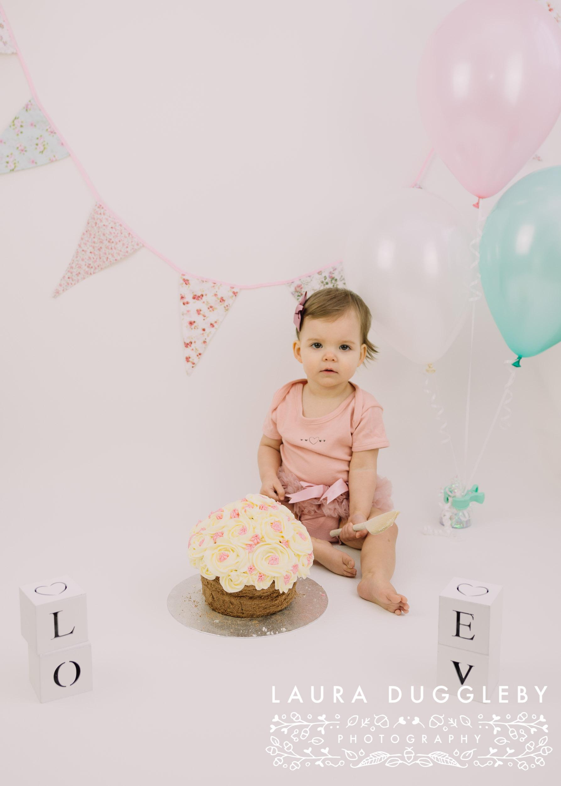 baby girl cake smash helmshore