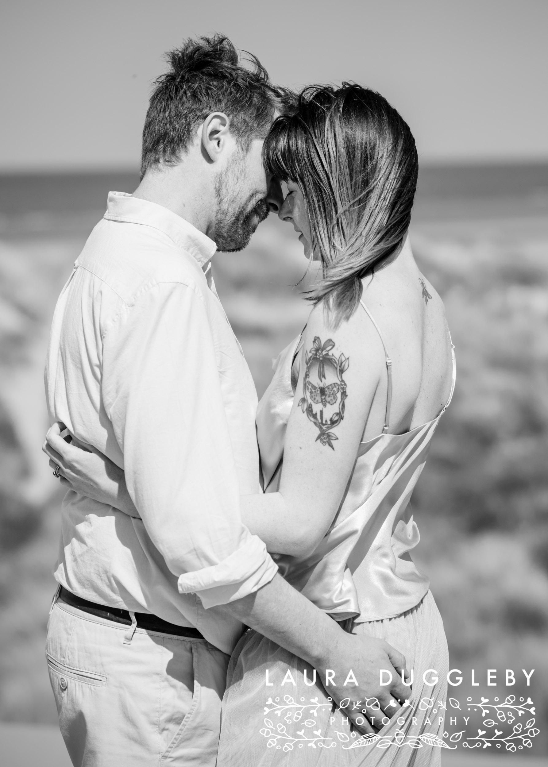 formby beach couples shoot