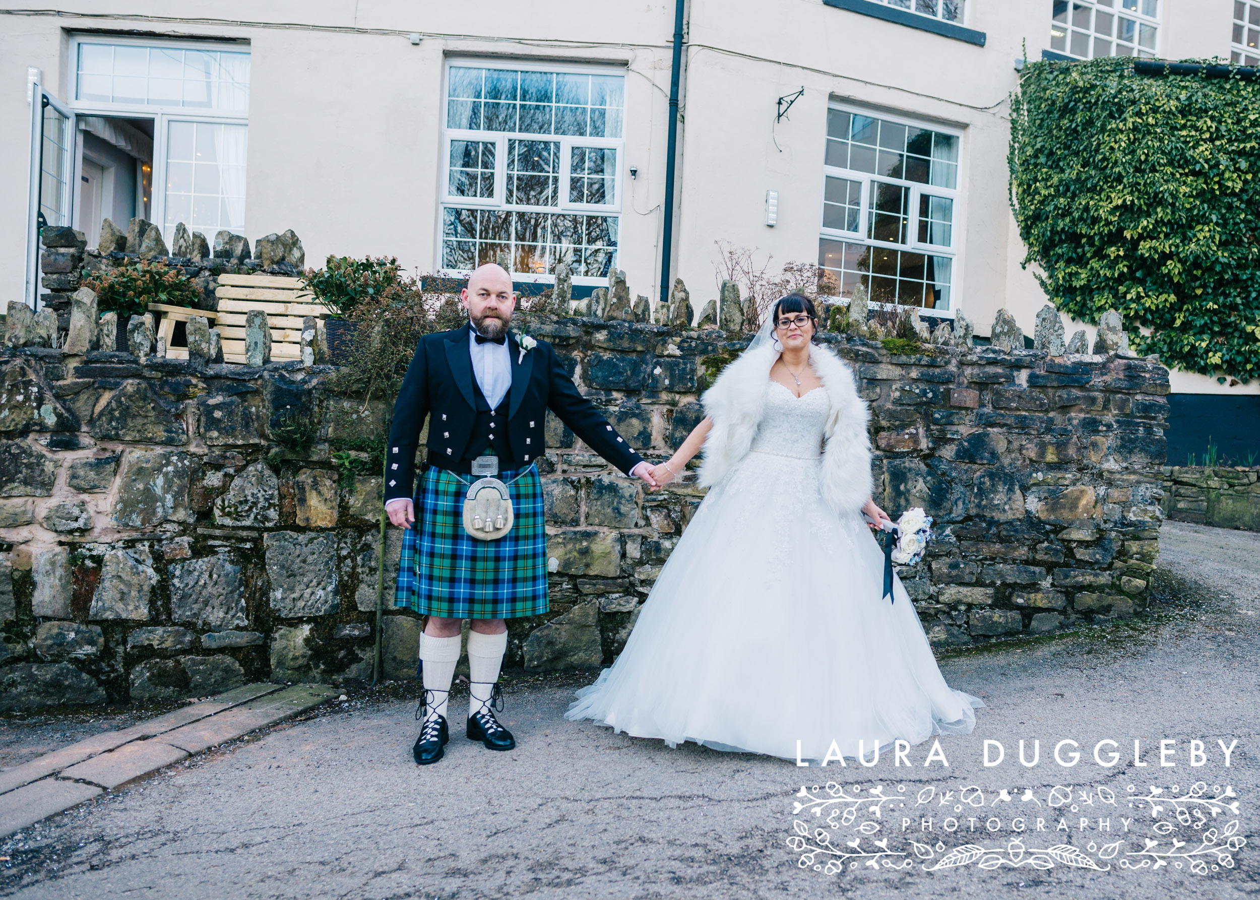 winter wedding at the old mill hotel lancashire - rossendale wedding photographer