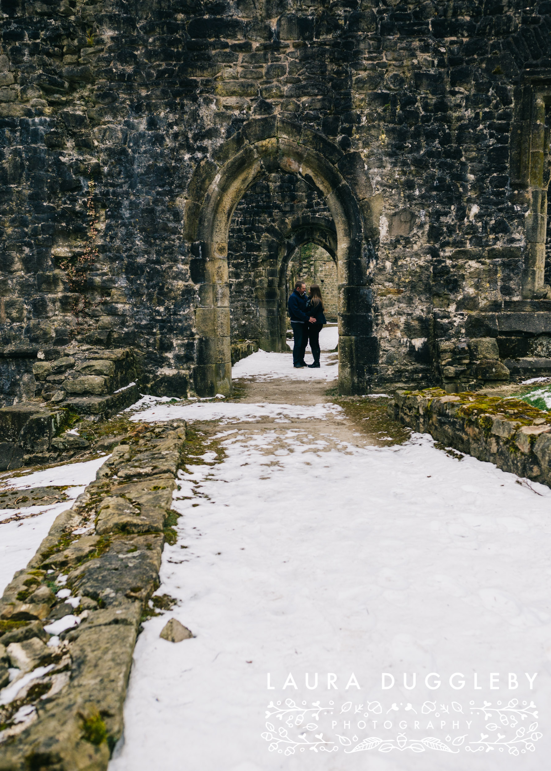 whalley abbey engagement shoot