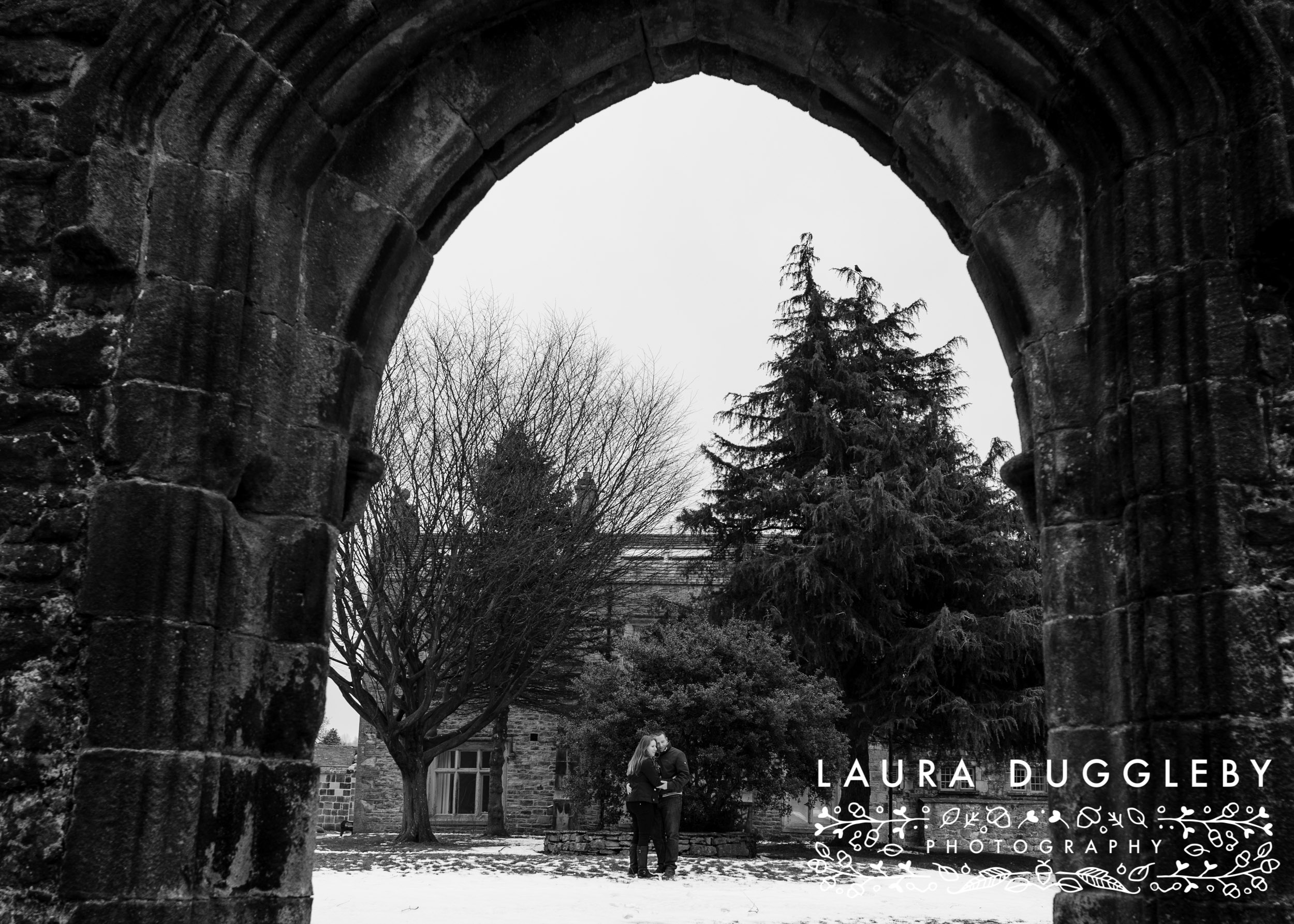 whalley abbey in the ribble valley engagement shoot