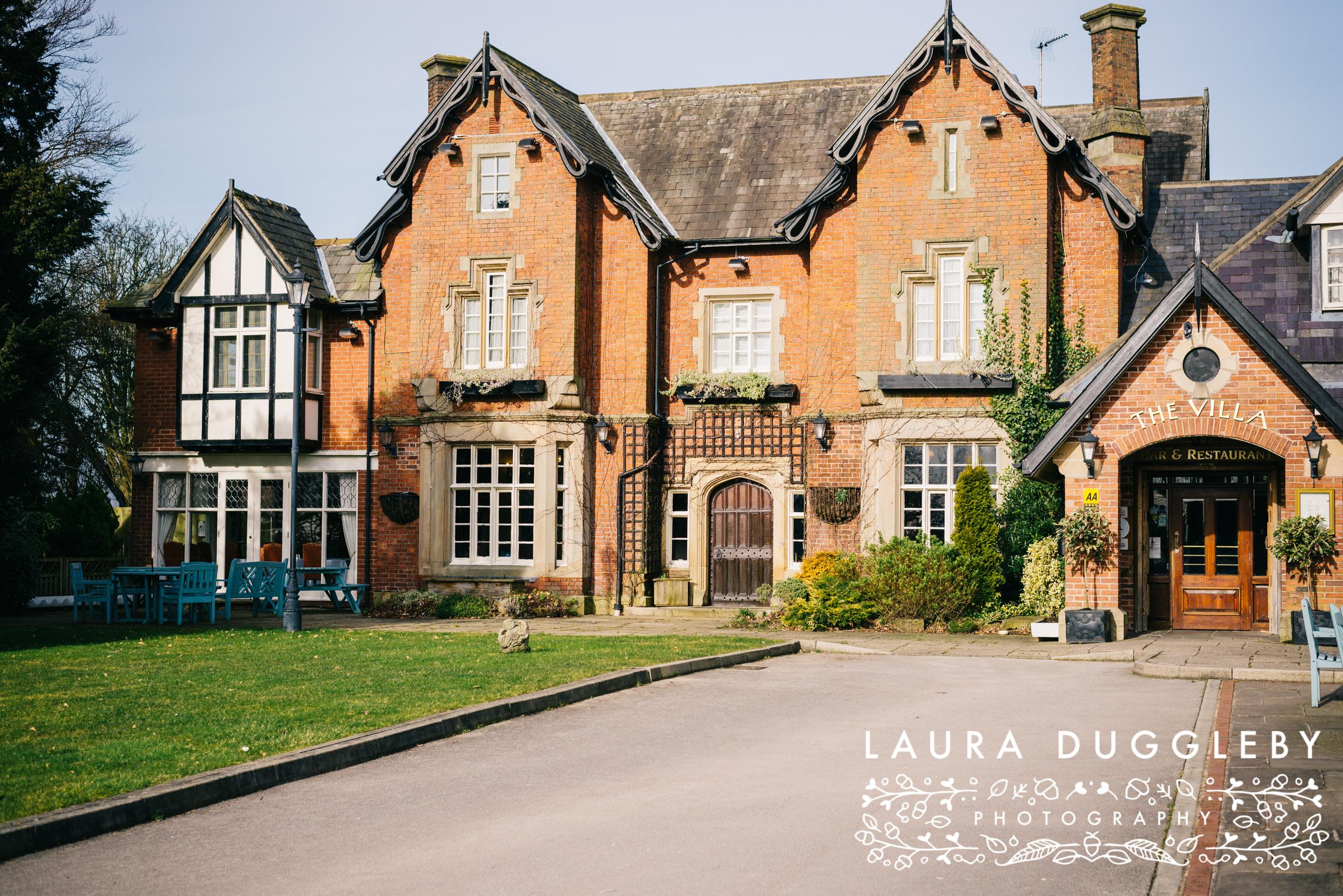 The Villa Hotel - Wrea Green Lancashire Wedding Photographer