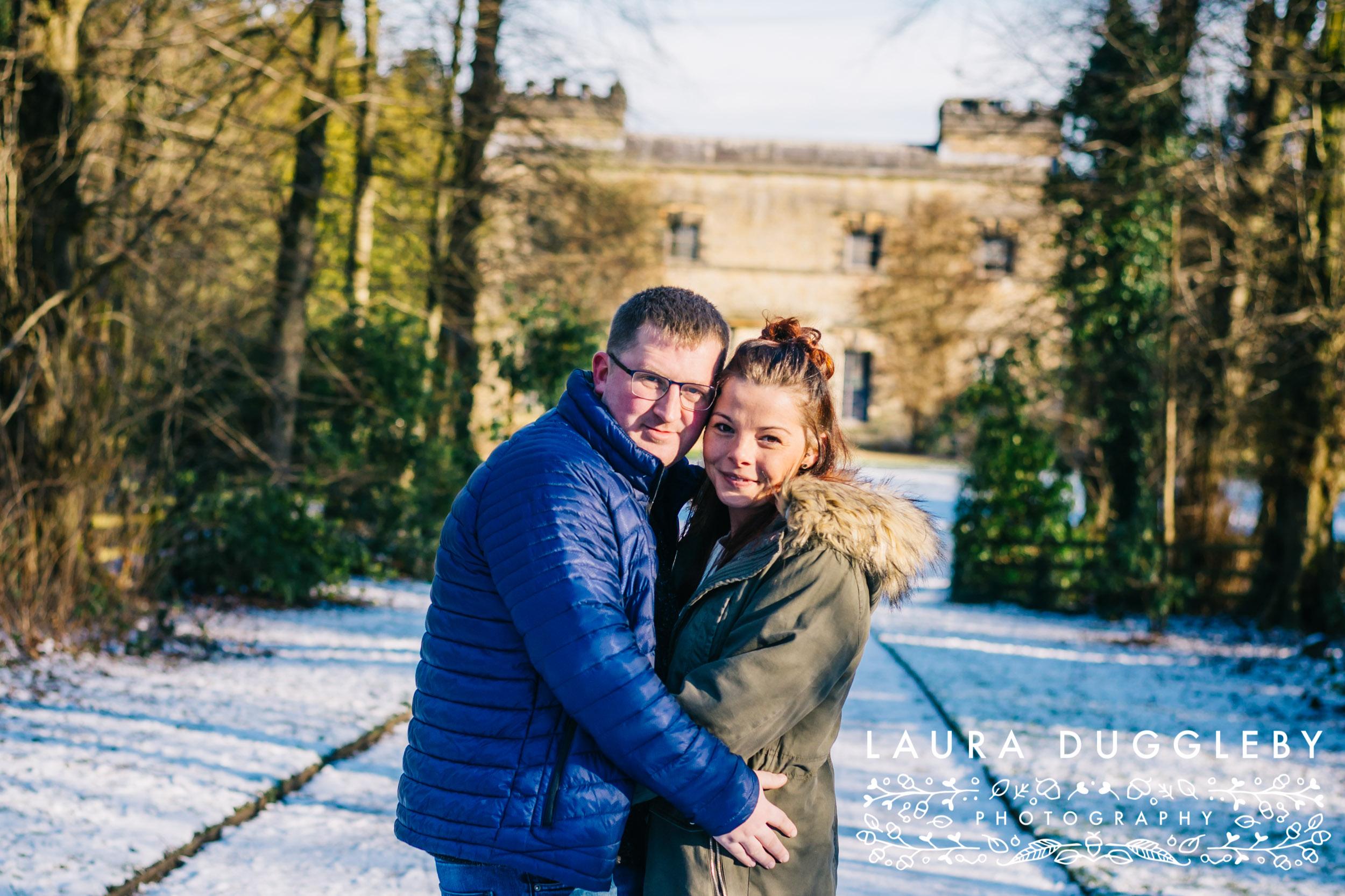 Lancashire Snowy Engagement Shoot