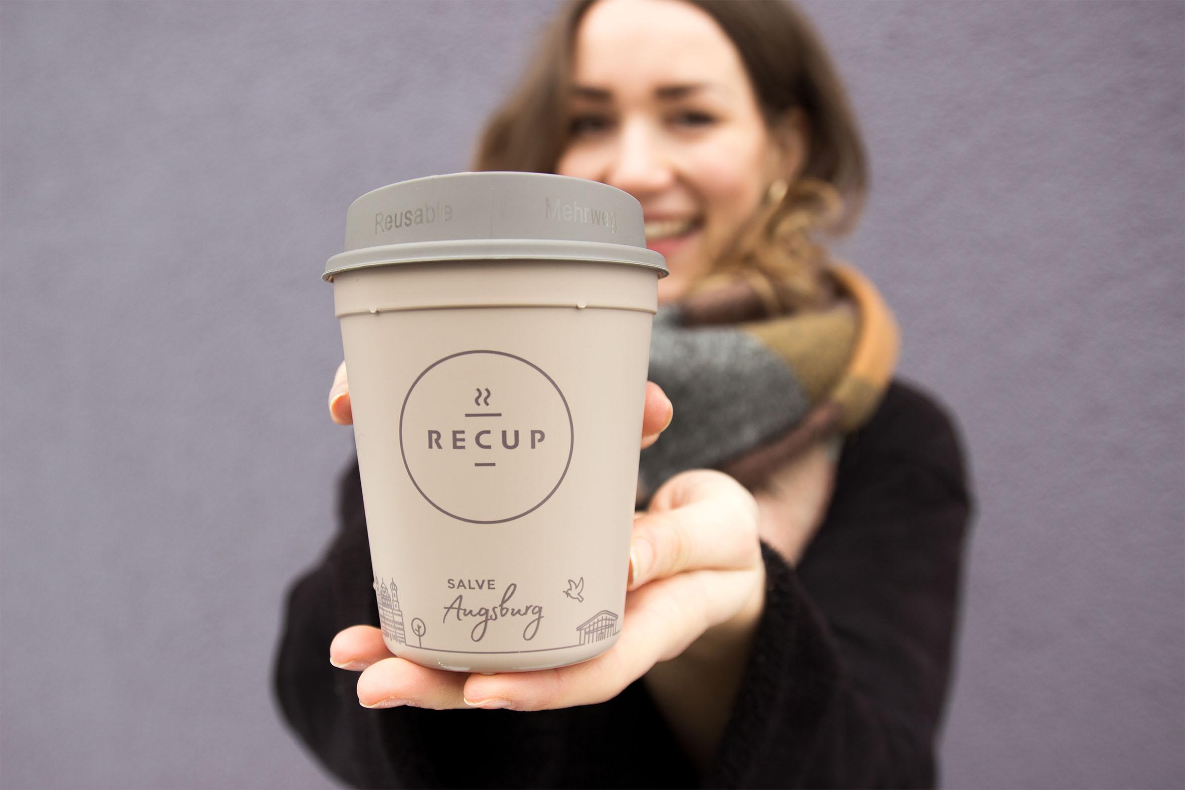 AUGSBURG-RECUP  SALVE Augsburg! Ab jetzt trinkt auch die alte Römerstadt Coffee-to-go im Pfandbecher und wir freuen uns über viele neue Partner!