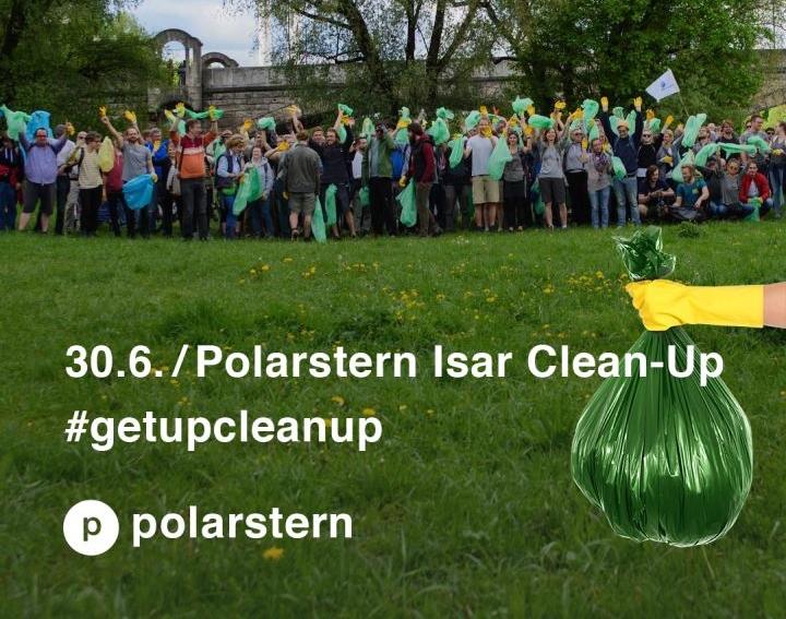 Macht mit beim  Isar Clean Up !