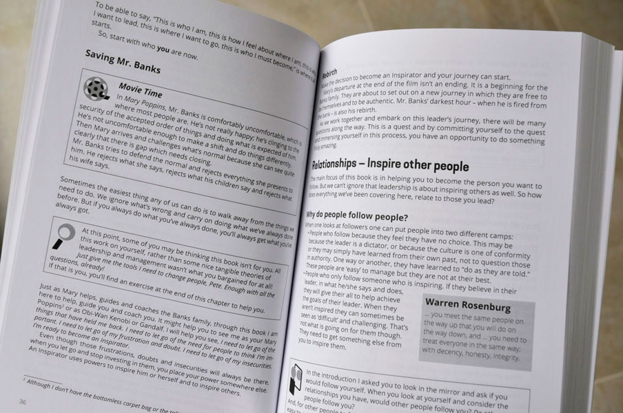 Inspirators. Pete Cohen's book about leadership.