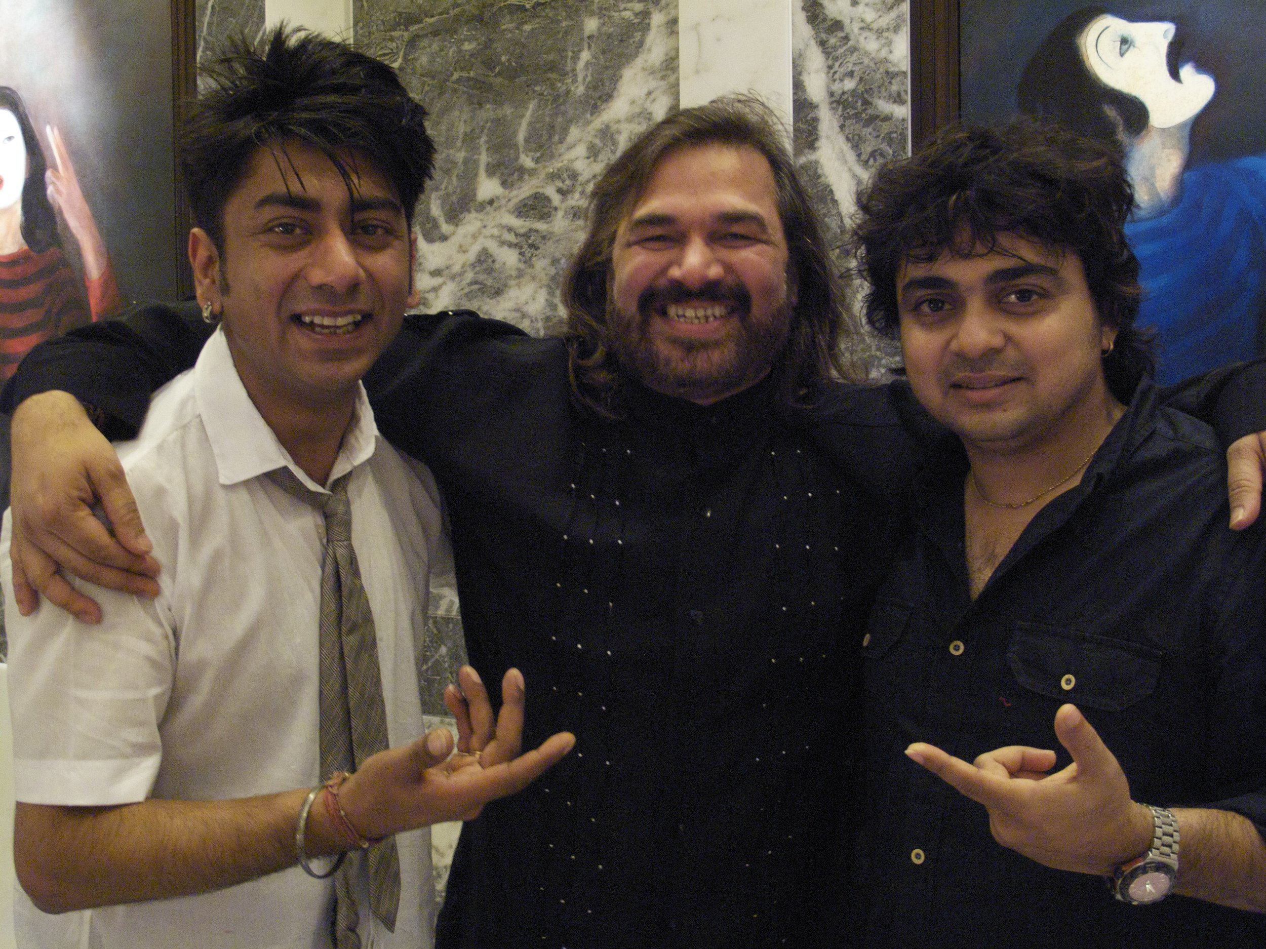 Talvin Singh, Vijay Ghate, Niladri Kumar (Indian classical music great performers and leaders of Indian progressive rock (electronic, tablas, sitar)