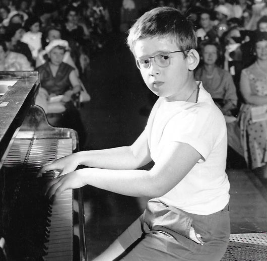 """June 1957 Igor Wakhevitch first public audition at the  National Superior Conservatory of Music and Dance , Salle Berlioz, Paris. The name of the piano piece was :  """"What time is it ?""""  by André Lavagne"""