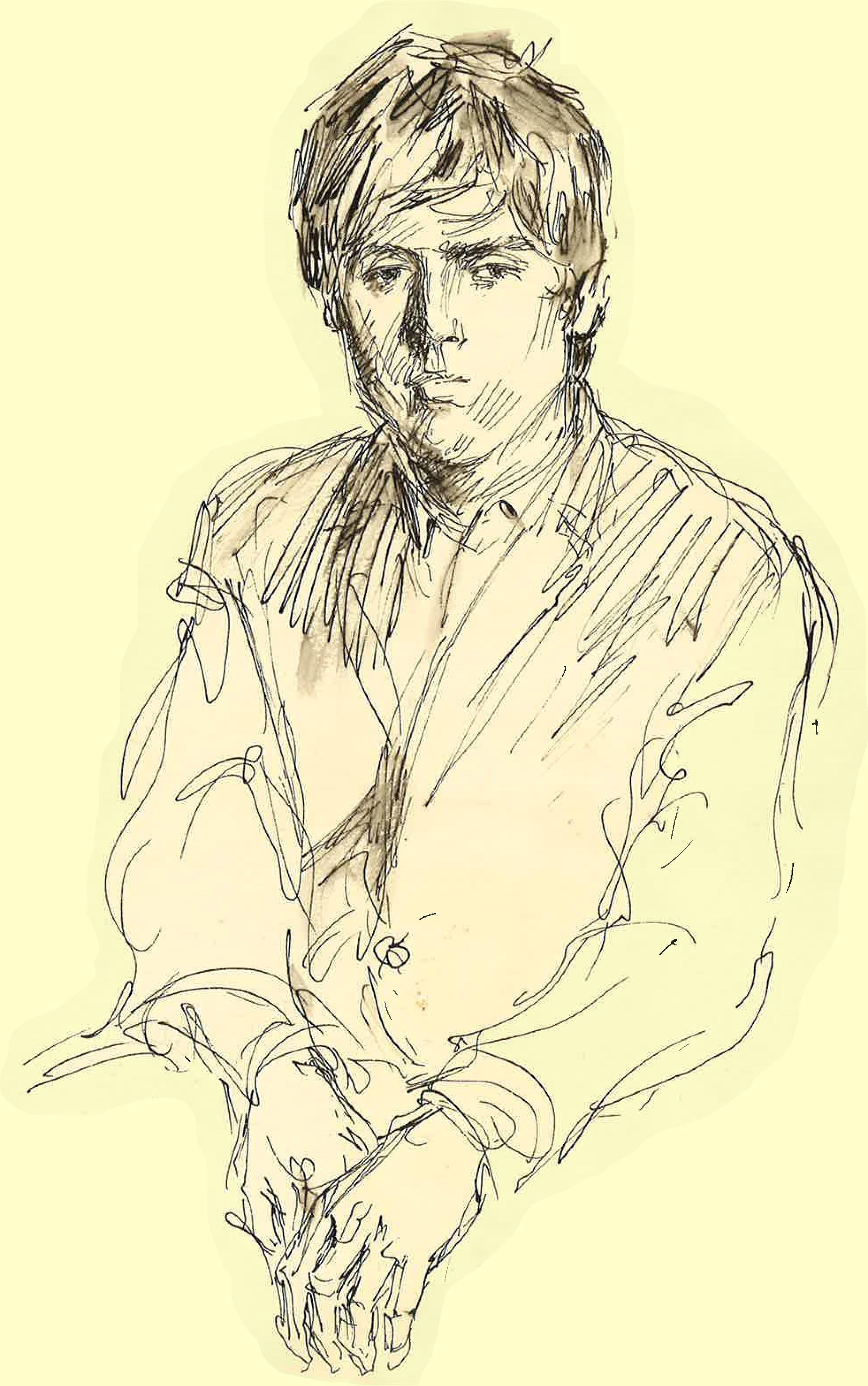 Igor Wakhevitch.  Drawing by Serge Ivanov