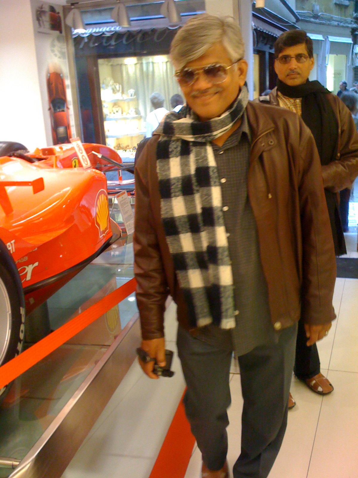 UMAKANT AND RAMAKANT GUNDECHA WITH A FERRARI CAR.jpg