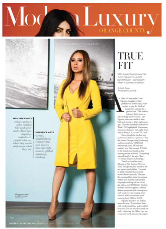 Modern Luxury - O.C. based businesswoman is a petite powerhouse - particularly when it comes to fashion.