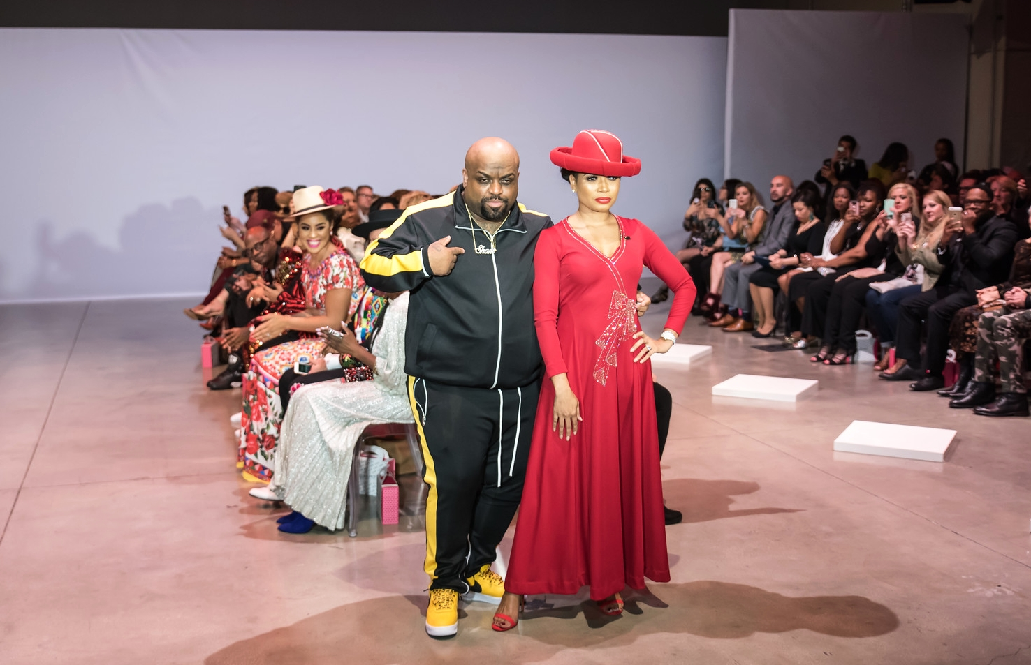 Designer Shani James with fiance CeeLo Green. Photo credit:  Kait McKay Photography .