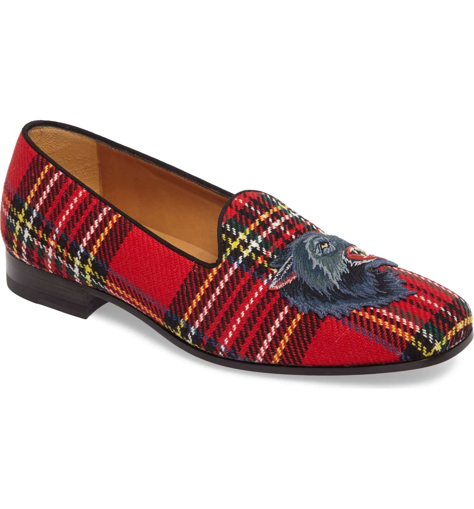 Gucci Red Plaid Wolf Loafer.jpeg