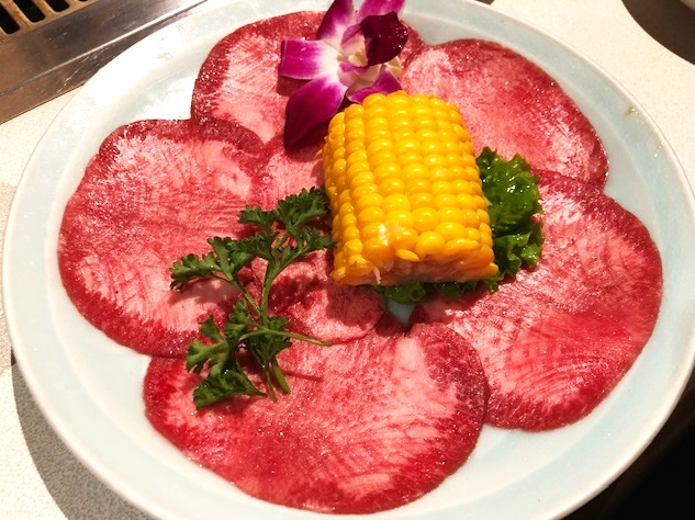 Beef Tongue from  Anjin Restaurant in Costa Mesa, CA . Photo courtesy of  @YvonLuxFood .