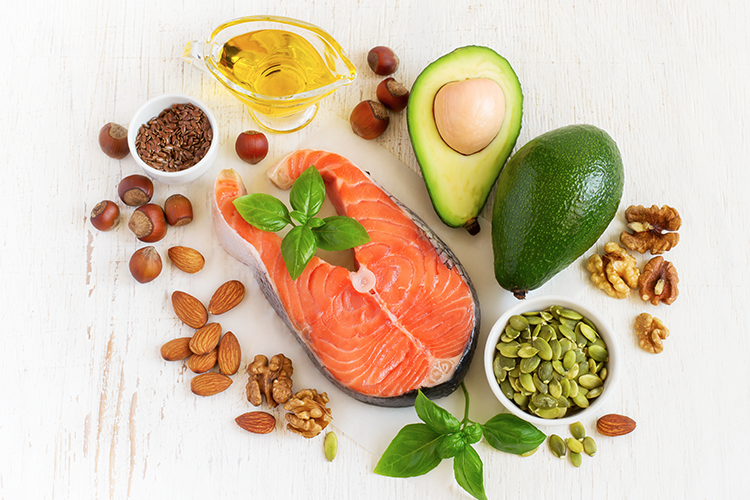 3) MORE OMEGA 3  - Consider that 60% of the brain is made up of fats, one of the most abundant being the omega 3 fatty acid DHA! Research suggests omega 3 is important for the brain, mood, memory and could even help in the treatment of depression. Good sources of omega 3 include oily fish, nuts & seeds.Oily fish is a direct source of the omega 3 fatty acids EPA and DHA, which have important health benefits. If you do not eat fish it is a good idea to consider omega 3 supplementation. Algal supplementation is a good plant based alternative to fish oil supplementation.