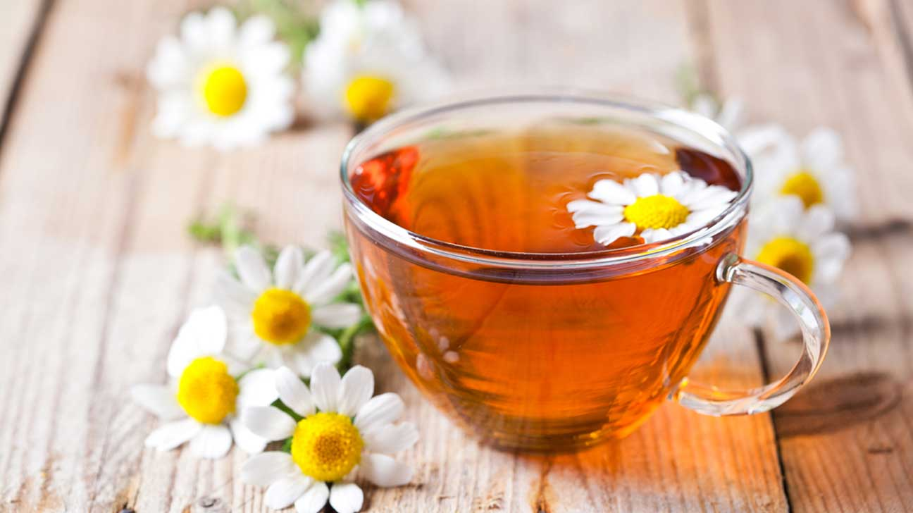 Chamomile tea may be effective for menstrual pain. - A study showed how drinking the tea increased levels of glycine, an amino acid which helps to relieve muscle spasms.