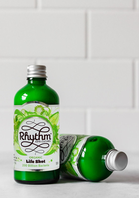 The only vegan kefir in the world that is made using raw ingredients. Over 200 billion microbes per bottle. - There are multiple probiotics on the market however nothing quite like Rhythm Health:100% NATURAL: The produce is only live culture and coconut, there are NO added gums, water, preservatives or thickeners.OVER 200 BILLION LIVE & DIVERSE BACTERIA: Making this a natural high potency probiotic suitable for repopulating the gut, flooding the gut with a diverse range of friendly microbes to keep your gut happy.FERMENTED WITH COCONUT MILK: Making it 100% dairy free, vegan and gluten free. Coconut also contains vitamins, minerals and electrolytes.MADE WITH ORGANIC KEFIR: Most other kefir is made using freeze dried cultures with limited bacteria strains. The life shots are made using live organic kefir grains with a diverse and natural range of strains.RAW PRESSED: All the ingredients are therefore kept in their natural and nutritious state. Currently Rhythm Health is the only vegan kefir in the world made using raw ingredients.
