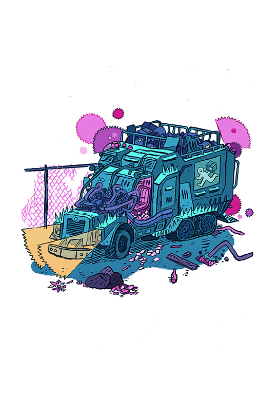 """Dystopian van"" william exley - Description:"