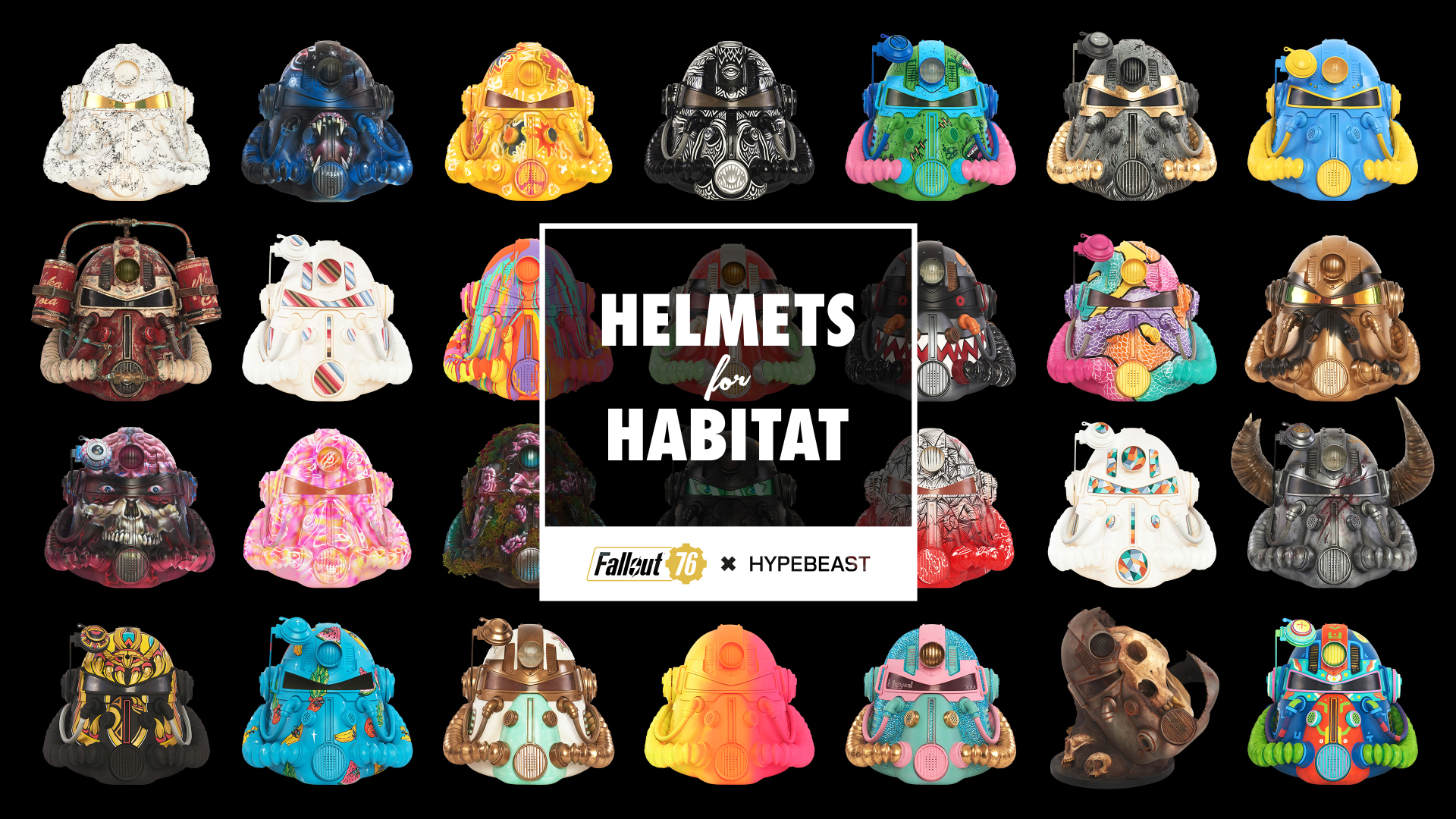 Full Collection Of Customised Artist Fallout Armor Helmets