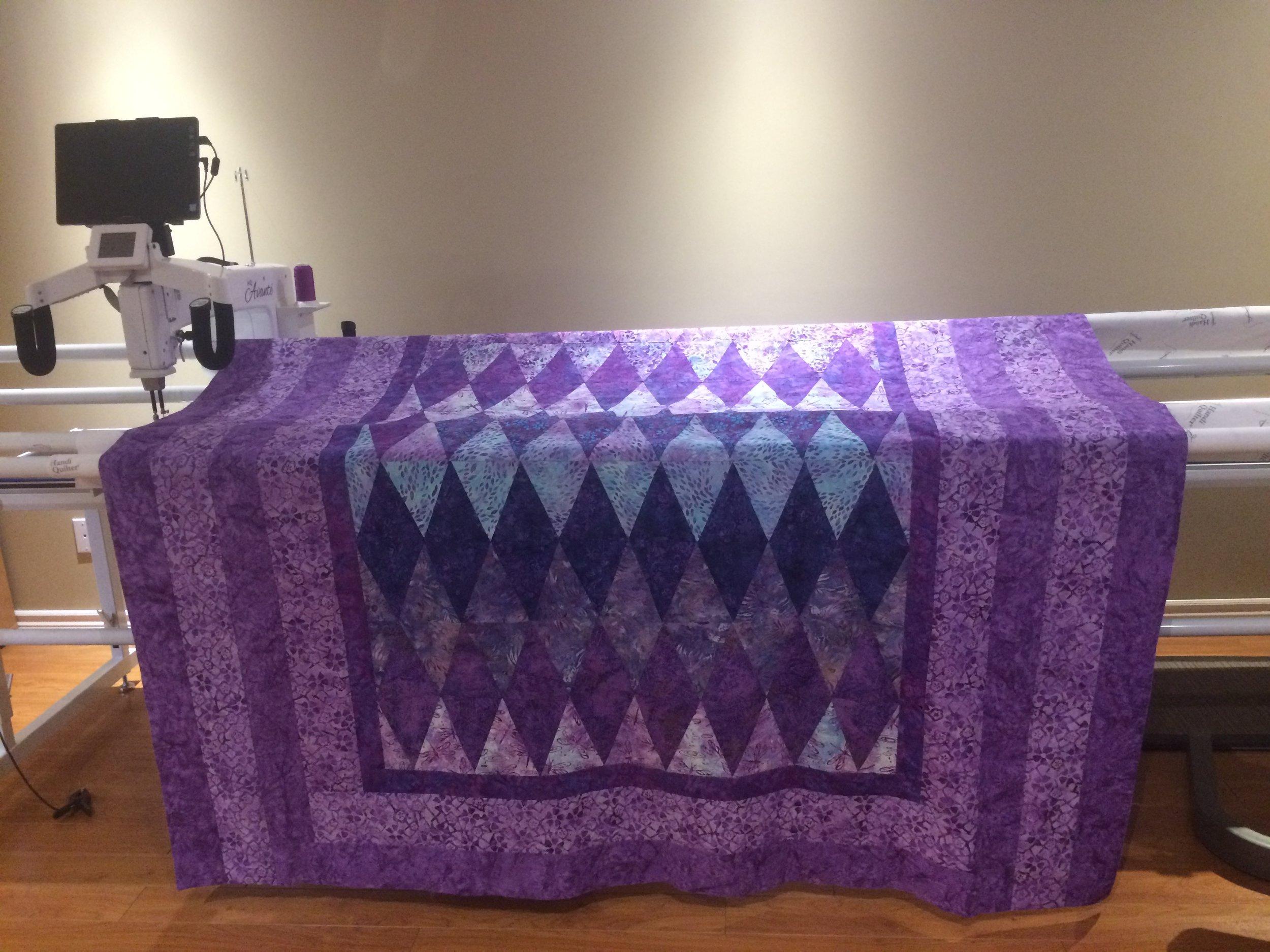 Batik on Longarm.JPG