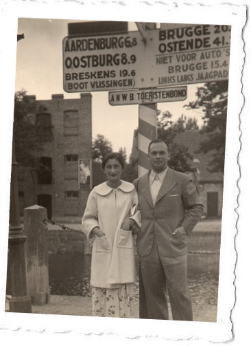 Hala and Ignas on their honeymoon, September 1935.