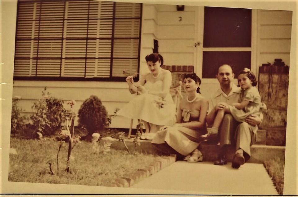 """""""Aunt"""" Fela, Hala, Robert (Ignas) and Joan, 3 Cohill Road, Valley Stream, NY, 1951"""