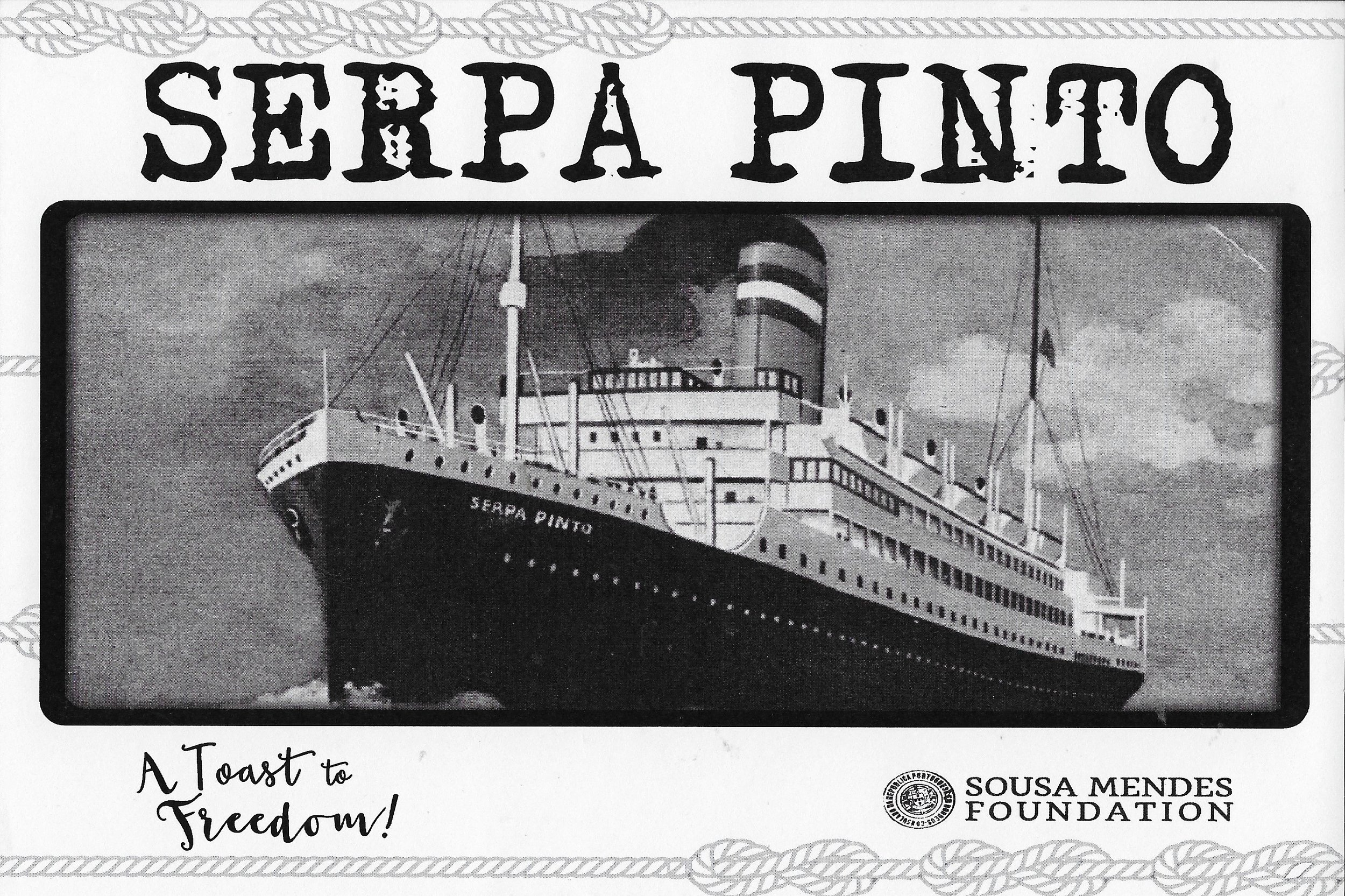 "The   SS Serpa Pinto   made more crossings of the Atlantic during the  Second World War  than any other civilian vessel, leading to her being termed the  Friendship vessel  or  Destiny ship  according to Eckl, Marlen.  ""Review: Serpa Pinto, the Ship of Destiny"" . Casa Stefan Zweig."