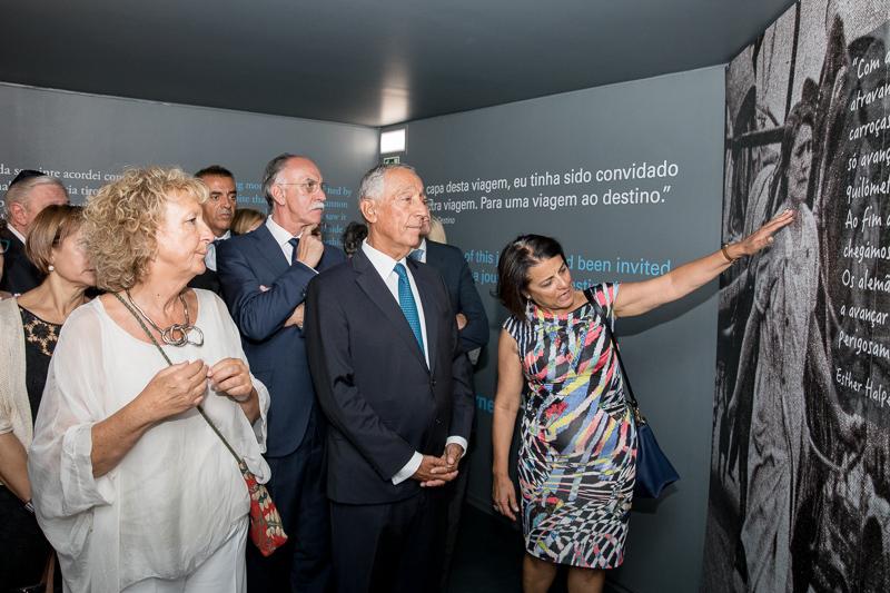 Pictured far left - Margarida Ramalho - Author, Historian and Curator of the Fronteira da Paz Museum
