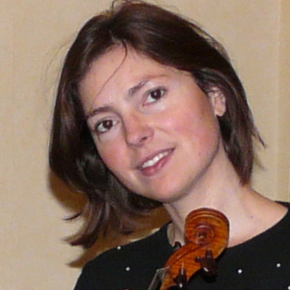"""Caroline Eugène   Born is a family of amateur musicians, Caroline starts playing the violin at the age of 7 with Maria Cheitanova and then with Jacques Dupriez at the musical academy of Woluwé Saint Pierre, where she wins the medal of the commune for chamber music.  In1999 she's the prize winner of the contest 'Jeugd en Muziek' and plays at the Palais des Beaux-Arts for 'Brussel Proms', and later in Helsinki, Finland.  In 2000 she obtains a 1st prize of violin with 'high distinction' at the Conservatoire Royal de Musique de Bruxelles and in 2004 she obtains the degree with distinction in the class of Adam Korniszewski and in October of that same year, she wins the prizeColonel De Bisschop et Madame Matthyssens',  One year later in June she obtains the post-graduate diploma of chamber music with high distinction in the class of André Siwy. She further improves her art at the Koninklijk Conservatorium Brussel and obtains her master with high distinction in the violin class of Katalin Sebestyén in 2006.  She presently plays in various orchestras, like 'L'Ensemble Orchestral de Bruxelles"""" and """"Musici Brucellensis'.  Since September 2011 she has been teaching violin at the music academy of Woluwé Saint Pierre."""