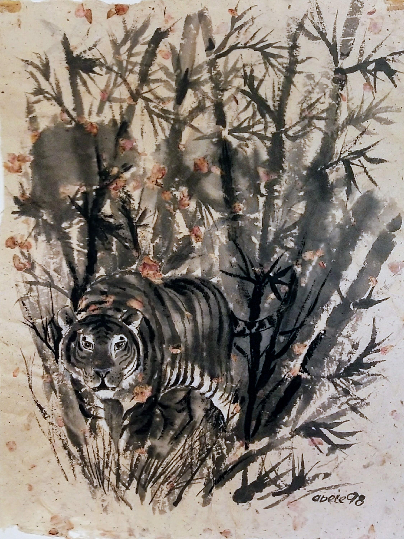 Tiger in Dicklichbambus / Tiger in Dense Bamboo