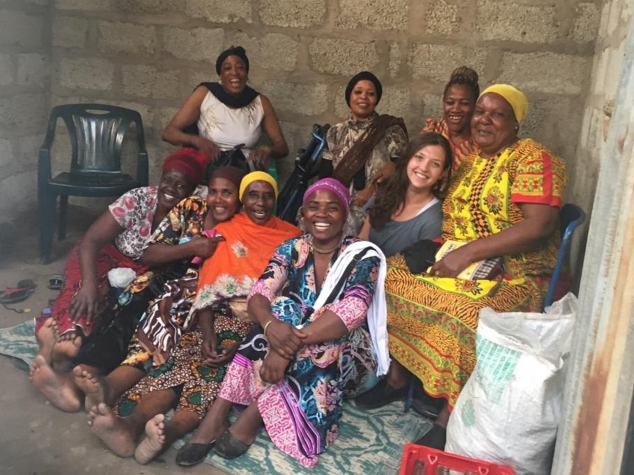Visiting with one of the women's empowerment groups in Olasiti in 2019.