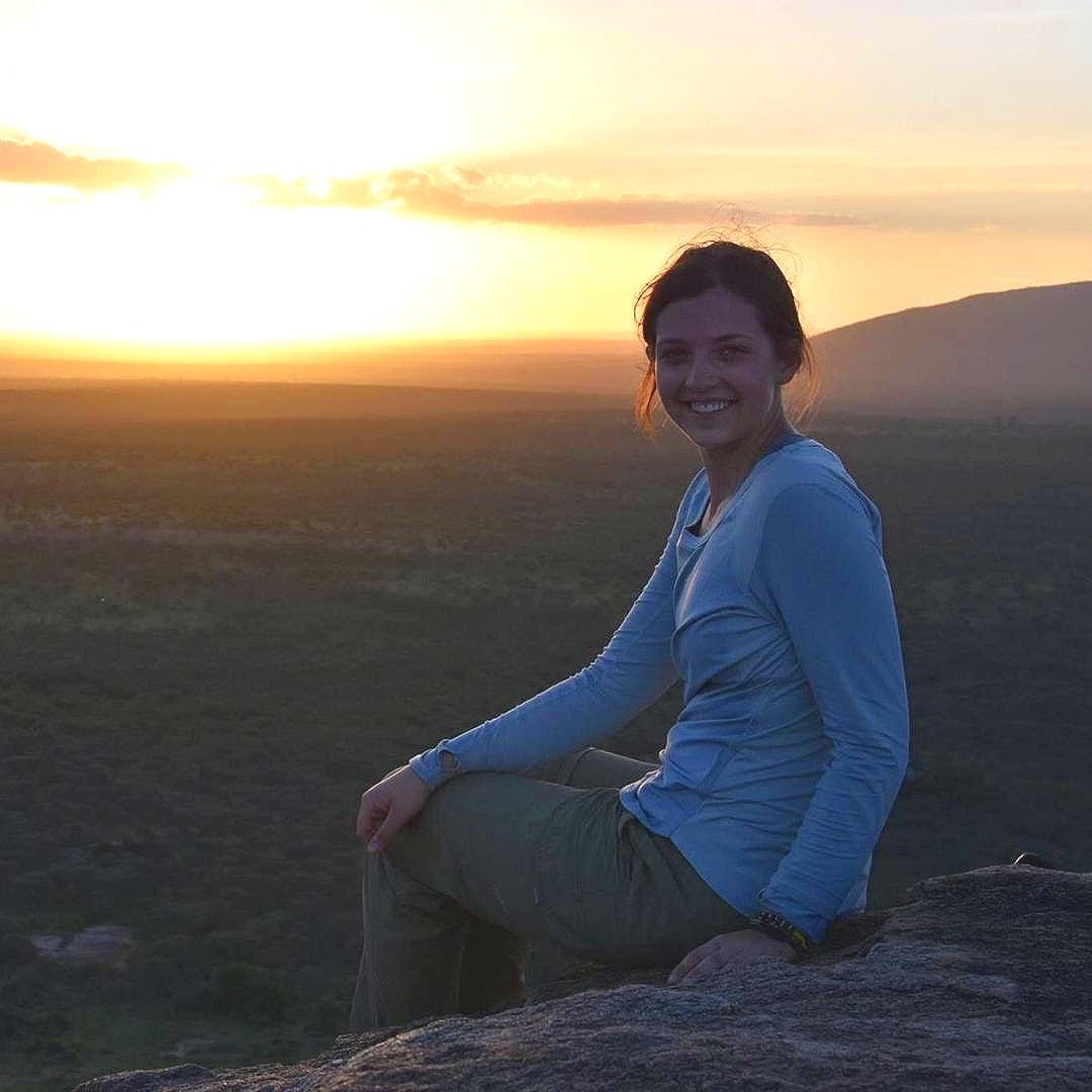 Enjoying the sunset in Longido during my first trip to Tanzania in 2018.