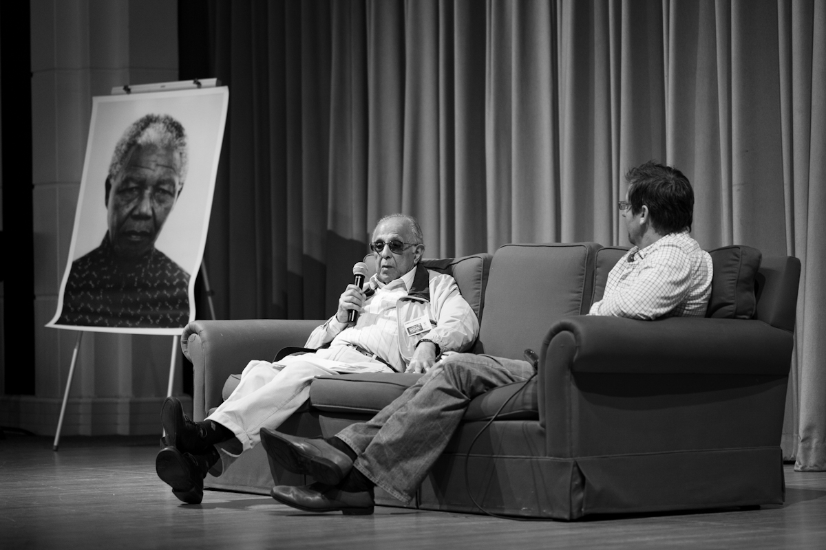 The late Ahmed Kathrada speaking to teachers at Shikaya's Back to the Future Conference.